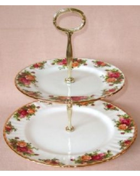 TEA SET FOR 4 OLD COUNTRY ROSES